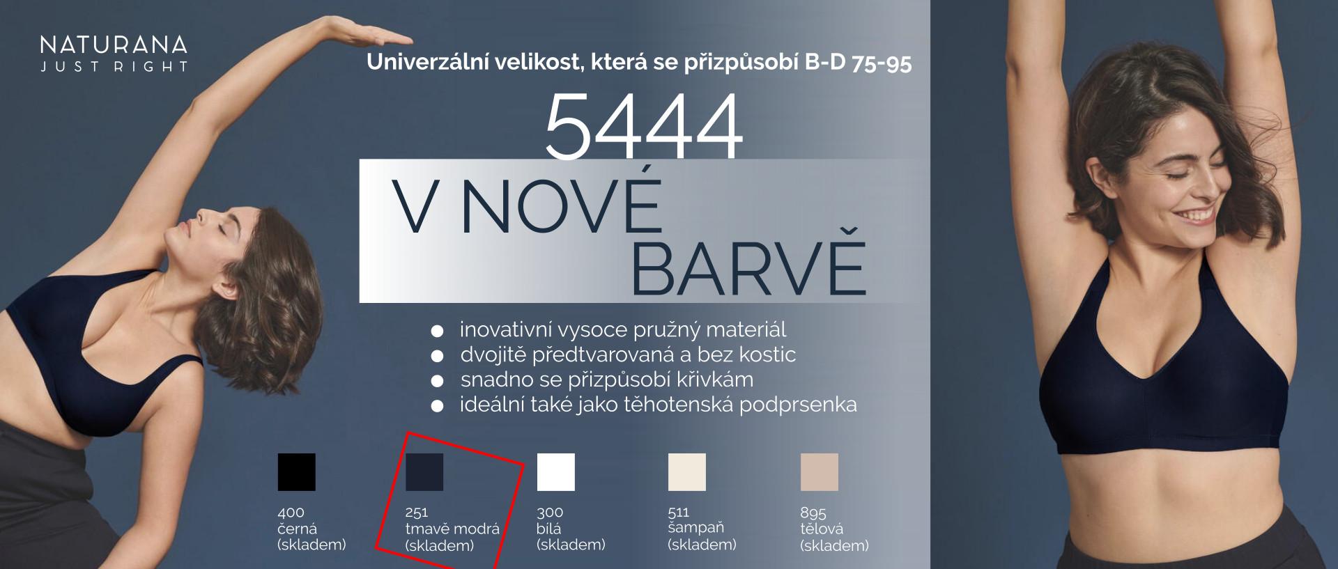 Podprsenka v univerzální velikosti, která se přizpůsobí 5444 Naturana
